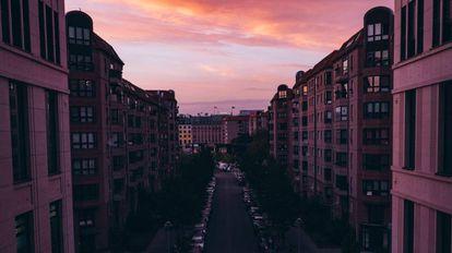 La ciudad de Berlín, Alemania