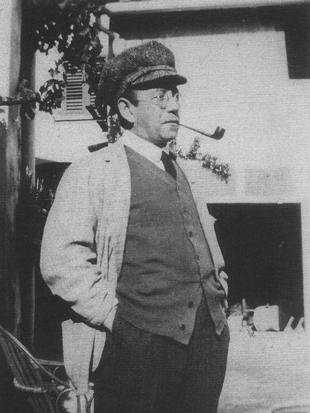Carl Einstein en Ibiza, 1923.