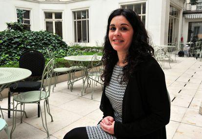 La biotecnóloga española María José Buzón, galardonada en París con el premio L´Oréal-Unesco.