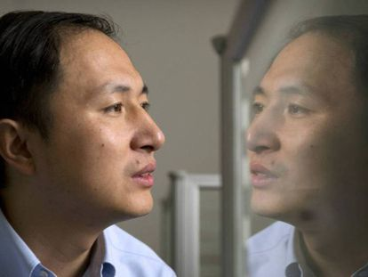 El biofísico He Jiankui en su laboratorio.