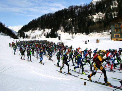 Carrera de esquí de montaña Tour du rutor.