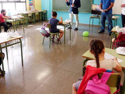 Campamento de verano en un colegio de Tíncer, en Tenerife, este verano.