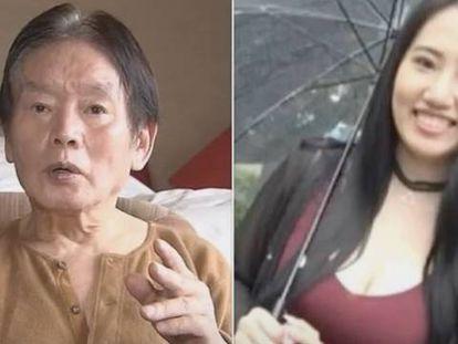 El empresario Kosuke Nozaki y su esposa, Saki Sudo.