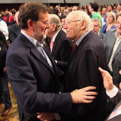 Rajoy con Rmay Beccaria en una imagen de archivo.