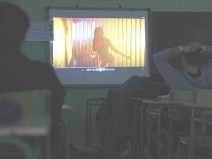 Taller contra la violencia machista en el instituto Julio Caro Baroja, de Fuenlabrada.