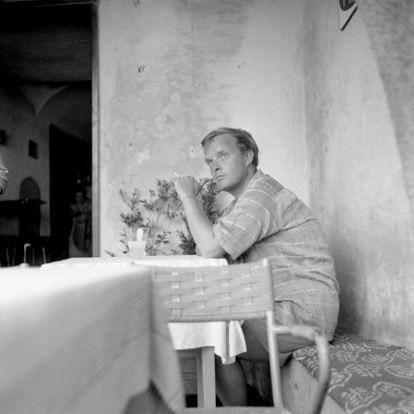 Truman Capote en Portofino, 1955.