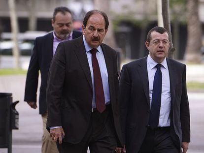Xavier Crespo a su llegada al juicio.