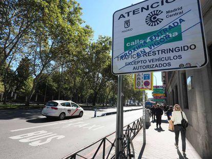El próximo 23 de noviembre entra en vigor el área de tráfico restringido Madrid Central.