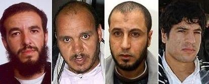 De izquierda a derecha, Youssef Belhadj, Hassan el Haski, Rabei Osman el Sayed, alias 'El Egipcio' y Abdeljamid Bouchard.