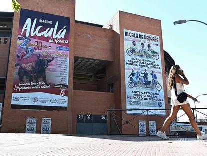 Vista de la plaza de toros de Alcalá de Henares, donde está previsto la celebración de la feria taurina de esta localidad madrileña programada para este fin de semana.