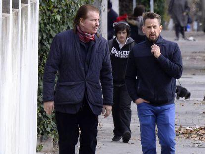 Edmundo 'Bigote' Arrocet con Alexis Legard, en diciembre de 2016 en Madrid.