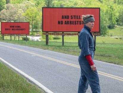 Frances McDormand en 'Tres anuncios en las afueras', de Martin McDonagh.