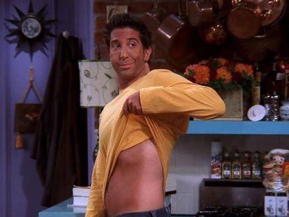 Prueba gráfica de que a Ross ('Friends') el autobronceado se le volvió en contra.