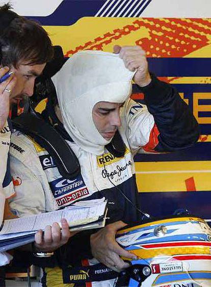 Fernando Alonso, tras sufrir el incidente en Jerez.