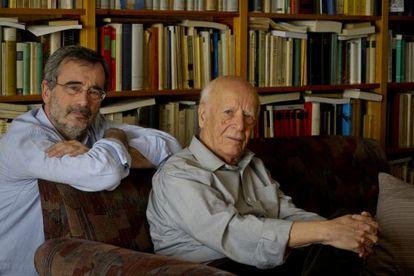 Manuel Cruz y Emilio Lledó.