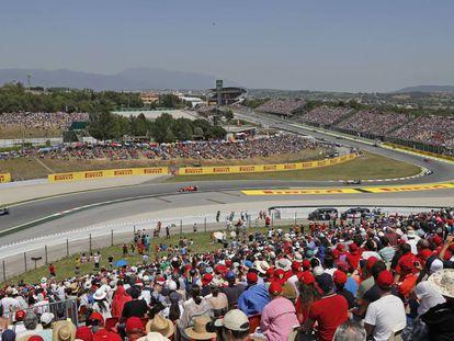 Aspecto del Circuit de Catalunya durante el Gran Premio de Fórmula 1 en mayo de 2015.