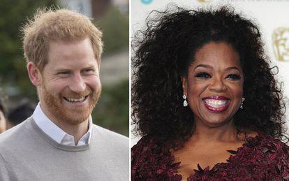 El príncipe Enrique (izquierda) y Oprah Winfrey.