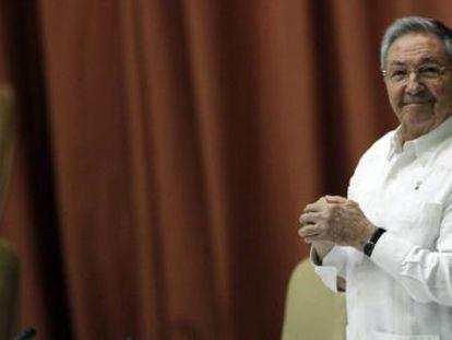 El presidente cubano, Raúl Castro, este sábado en La Habana.