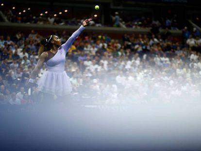 Serena Williams, durante un partido reciente del US Open en Nueva York.