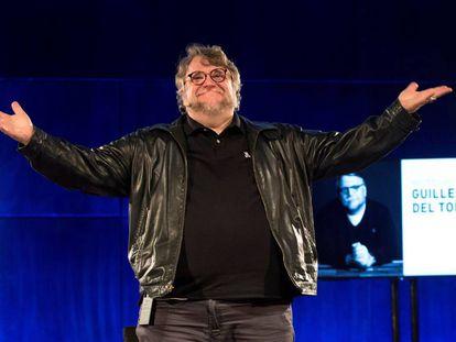 El director mexicano Guillermo del Toro, al acabar su clase magistral.