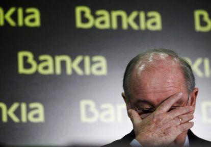 Rodrigo Rato, en una imagen de 2012, cuando era presidente de Bankia.