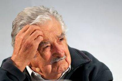 El expresidente de Uruguay José Alberto Mujica, en el coloquio sobre el futuro de los derechos humanos celebrado en el Centro del Carmen de Valencia.