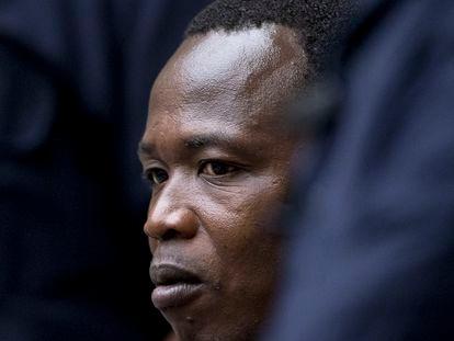 Dominic Ongwen, este jueves en la Corte Penal Internacional de La Haya.