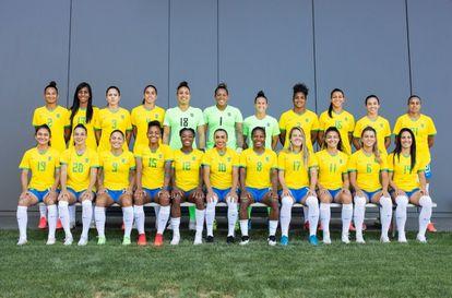 La selección femenina de Brasil que jugará en los Juegos Olímpicos de Tokio 2020.