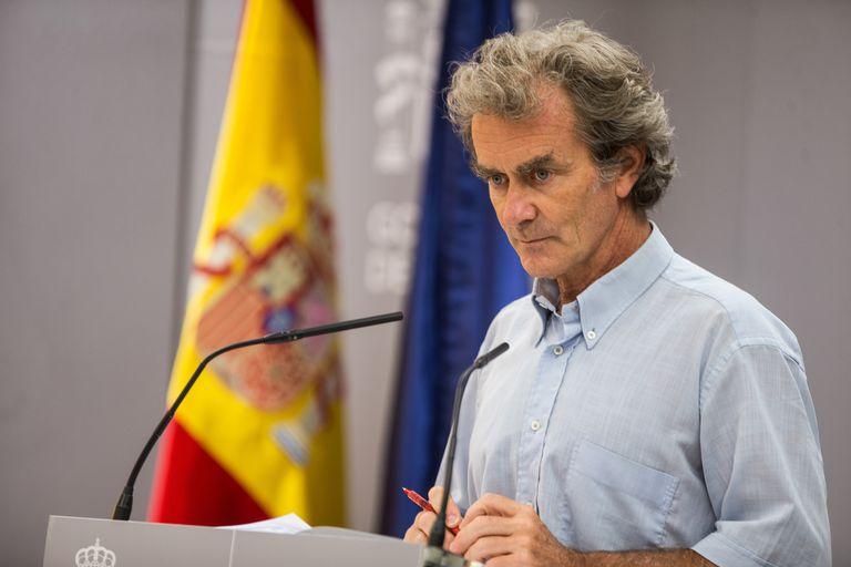 El director del Centro de Coordinación de Alertas y Emergencias Sanitarias (CCAES), Fernando Simón, durante la rueda de prensa del jueves 30 de julio.