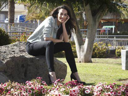 Almudena Cid, esta semana en Gran Canaria.