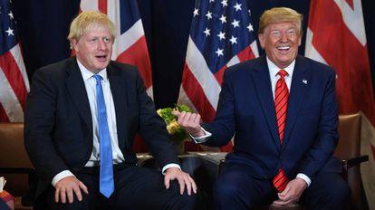 Boris Johnson y Donald Trump, en Nueva York, en septiembre de 2018.