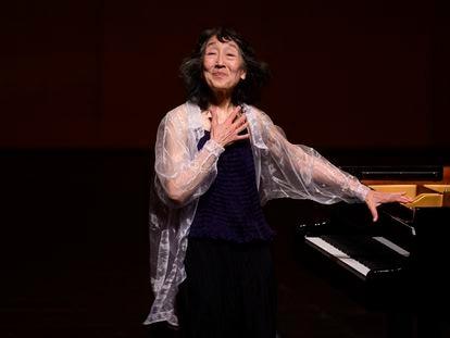La pianista japonesa Mitsuko Uchida durante su presentación en el Festival Internacional de Santander.