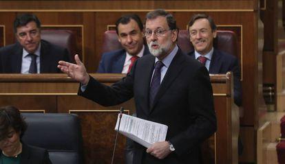 Mariano Rajoy, durante una intervención en el Congreso.