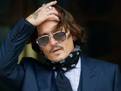 El actor Johnny Depp, durante el juicio el 14 de julio.