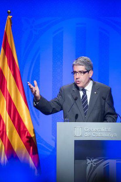 Francesc Homs, el pasado 4 de noviembre en Barcelona.