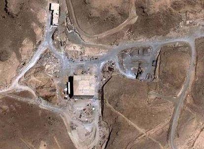 Imagen satélite de la central nuclear en Siria.