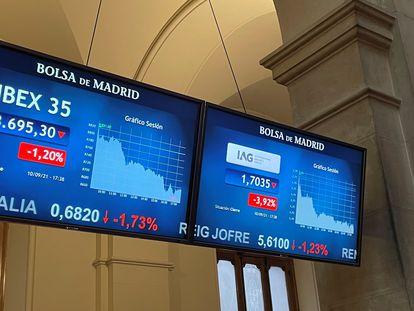 La bolsa española cae el 1,2 % y regresa a niveles de finales de julio pasado
