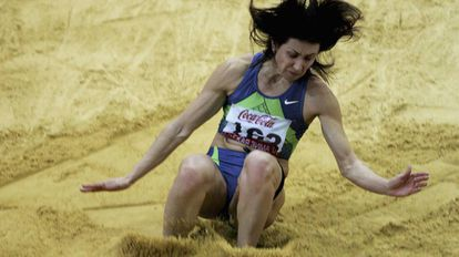 Tatiana Lebedeva, en una competición de 2007.