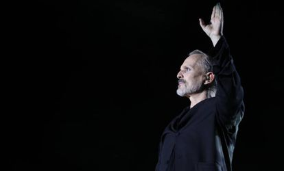 Miguel Bosé en un concierto en Madrid el 23 de junio de 2017.
