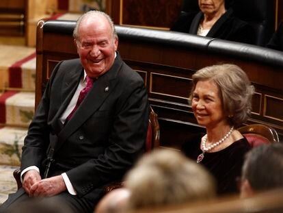 Los reyes eméritos, don Juan Carlos y doña Sofía.