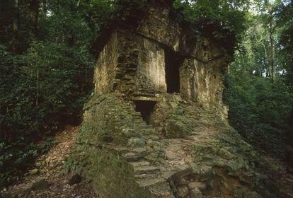 El Templo del Jaguar, en Palenque, Chiapas.