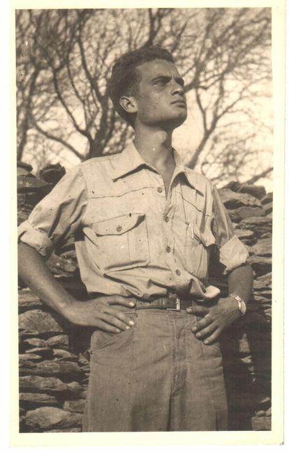 Luis Goytisolo, en Barcelona en la década de los cincuenta.