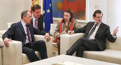 El presidente del Gobierno, Mariano Rajoy, se reúne con el ministro de Asuntos Exteriores de Rusia, Serguéi Lavrov.