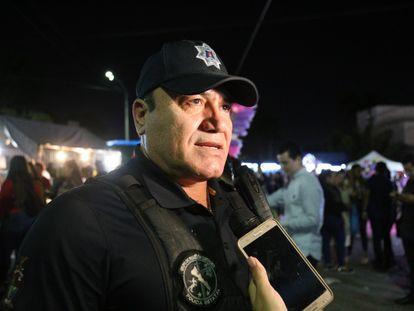 El director de la policía estatal de Sinaloa, Joel Ernesto Soto, en diciembre de 2019 en Culiacán.