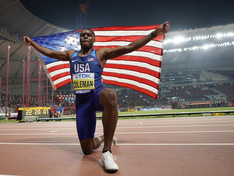 Coleman, tras ganar el Mundial de Doha.
