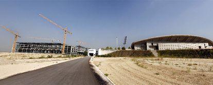 Vista actual de La Peineta, que será transformada en un moderno estadio de fútbol.