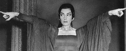 Maria Callas durante su actuación en <i>Medea,</i> en 1959.