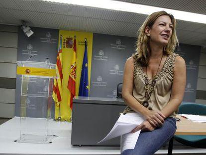 Paula Sánchez de León cuando era delegada del Gobierno en la Comunidad Valenciana
