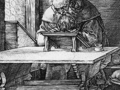 Sant Jeroni, concentrat i treballador.