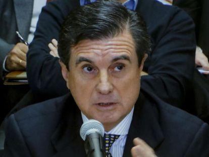 El expresidente balear, Jaume Matas, en el juicio del 'caso Nóos'.